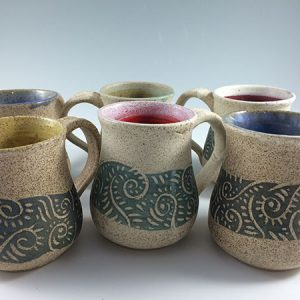 pottery coffee mugs
