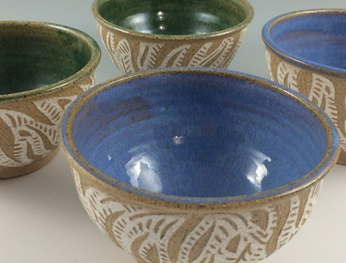 handmade pottery bowls, cereal bowls