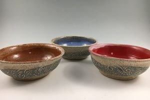 small sgraffito bowls