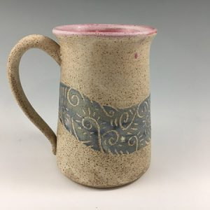 sgraffito beer stein