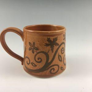 fall pottery mug