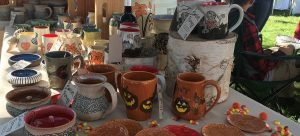 fall and halloween pottery