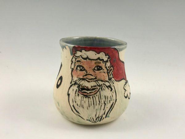 santa stemless wine glass