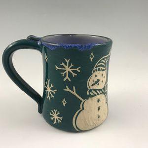 snowman hot chocolate mug