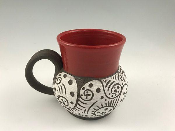 pottery coffee mug 22oz