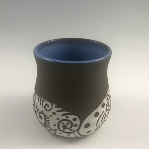 unglazed stemless wine glass