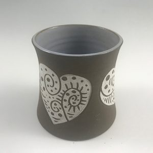 heart ceramic tumbler