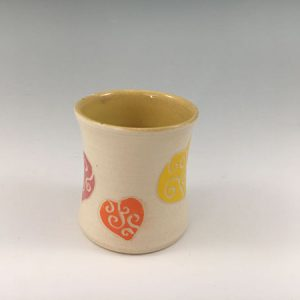 tiny ceramic heart vase