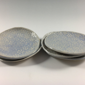 snowflake pottery dishes