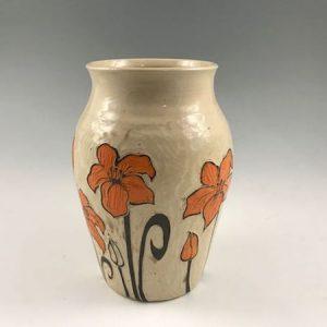 lilies flower vase