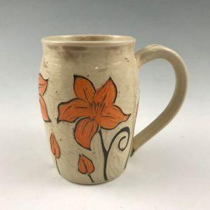 lily sgraffito mug