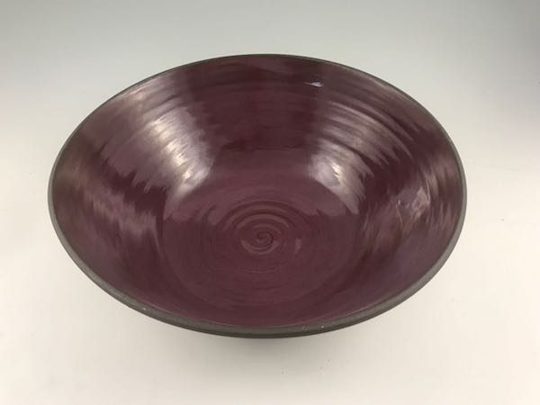 large pottery serving bowl