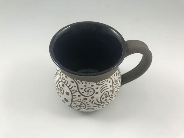 black unique coffee mug
