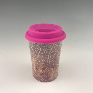 handmade butterfly travel mug