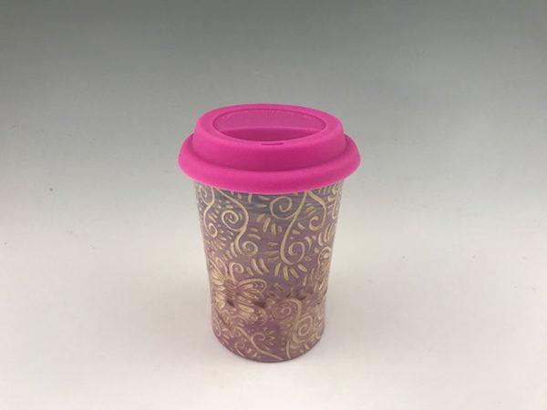 handmade butterfly travel mug