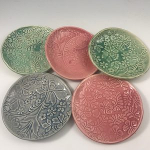 spring patterned dishes