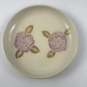 sgraffito flower dish