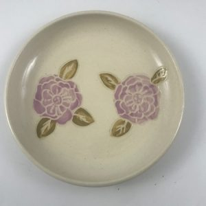 sgraffito flower dish