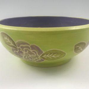 sgraffito flower bowl