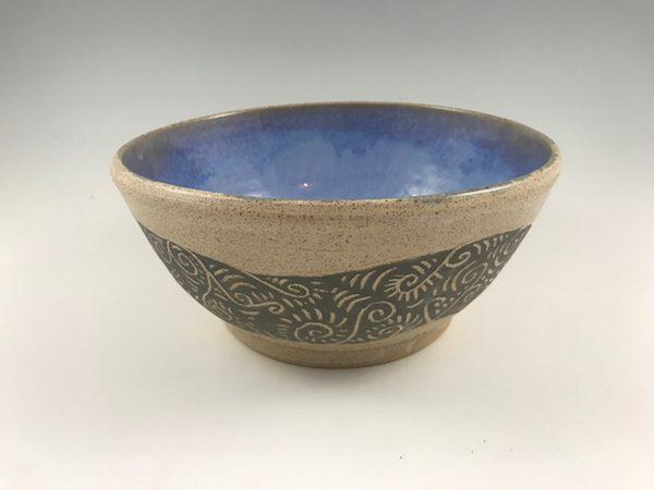 swirl sgraffito bowl