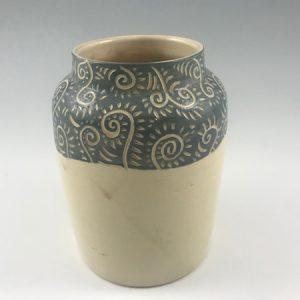 sgraffito vase