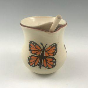 butterfly honey pot