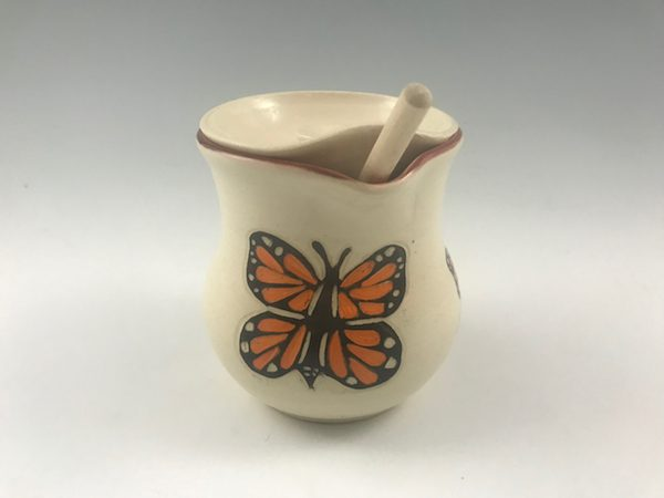 butterfly honey pot