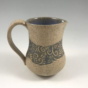 speckled sgraffito creamer