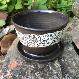 chocolate brown planter