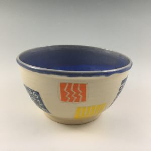 colorful sgraffito bowl