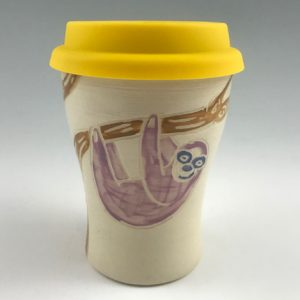 sloth travel mug