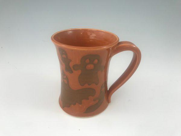 orange ghost mug
