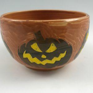 Jack-O-Lantern Candy Bowl
