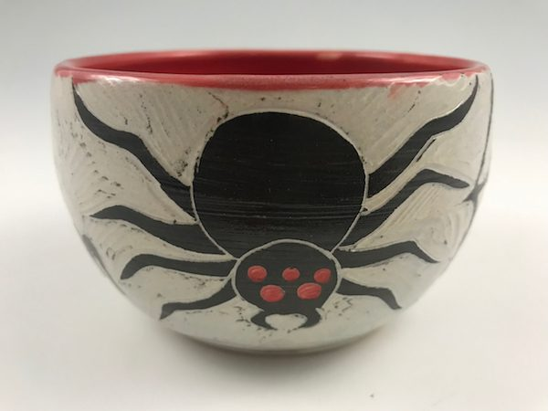 spooky spider bowl