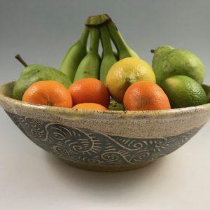 sgraffito fruit bowl