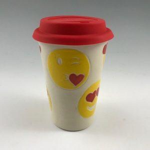emoji travel mug