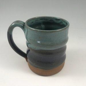 turquoise wonky mug