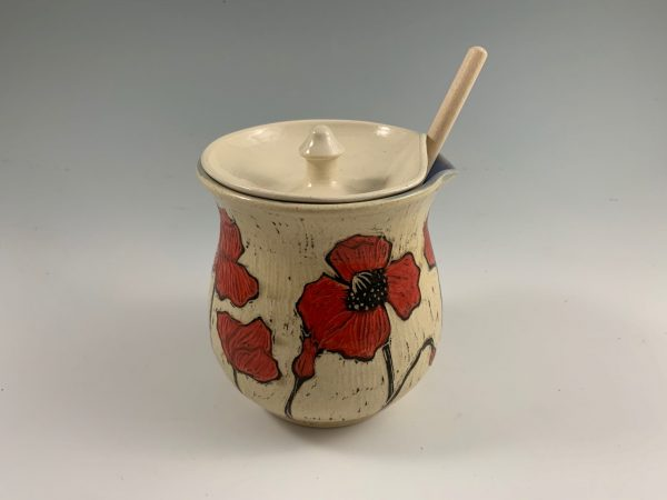 poppy honey pot