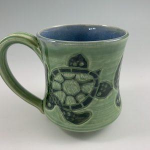 handmade turtle mug