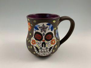 handmade sugar skull mug