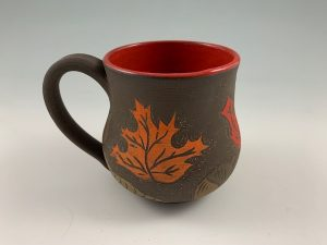 leaf peeping pottery