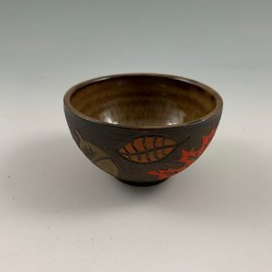 small leaf peeping bowl