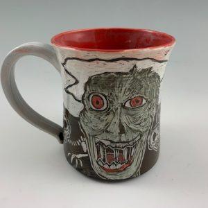 zombie in graveyard mug