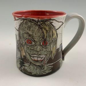 rotting lady zombie mug