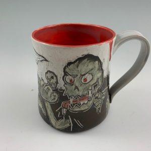 zombie graveyard mug