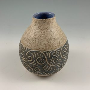 small sgraffito bottle